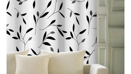 Forbyt Závěs Leaf černá 150 x 245 cm
