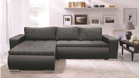 Rohová sedačka Enro univerzální (berlin 2/PVC, černá)