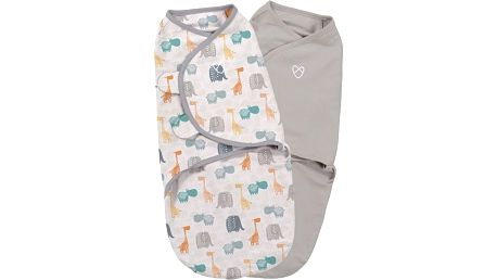 SUMMER INFANT Zavinovačka SwaddleMe S džungle/šedá 2ks