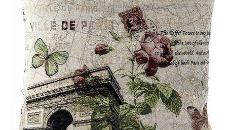 BO-MA Trading Povlak na polštářek Gobelín Rose Vítězný oblouk, 45 x 45 cm