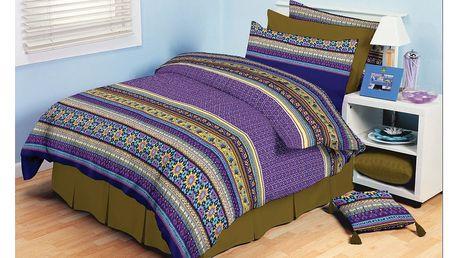 TipTrade bavlna povlečení Akira Fialové 140x200 70x90, 140 x 200 cm, 70 x 90 cm