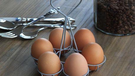 Chic Antique Stojánek na vajíčka, šedá barva, kov