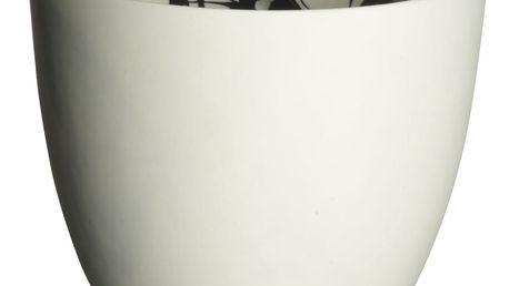 MADAM STOLTZ Svícínek Butterfly, bílá barva, porcelán