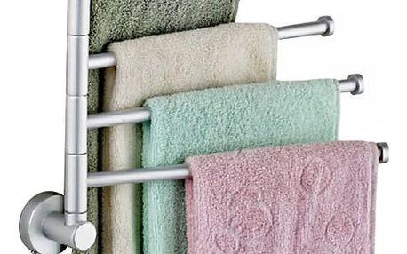 Držák na ručníky s otočnými rameny