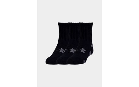 Ponožky Under Armour HeatGear 3 Pack Crew Černá