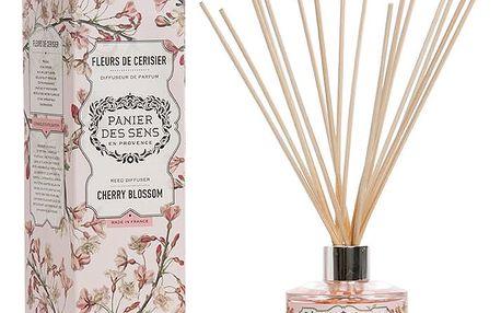 Panier des Sens Vonný difuzér Cherry Blossom 100ml, růžová barva, oranžová barva, sklo