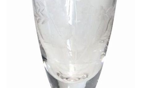 GREEN GATE Sklenička na šampaňské Cutting clear, čirá barva, sklo