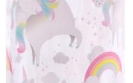 sass & belle Plastová lahev na vodu Rainbow Unicorn 450 ml, růžová barva, čirá barva, plast