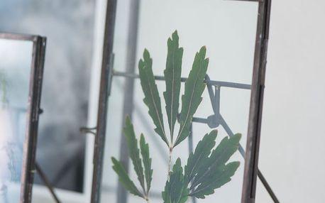 IB LAURSEN Kovový fotorámeček s opěrkou 12x17, černá barva, čirá barva, sklo, kov