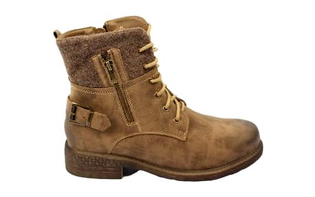 Kvalitní dámské kotníkové boty WILD hnědé