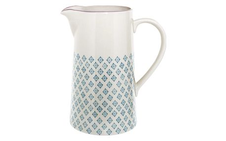 Bloomingville Keramický džbán Patrizia 1,7 l, modrá barva, keramika