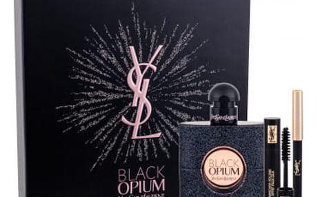 Yves Saint Laurent Black Opium dárková kazeta pro ženy parfémovaná voda 50 ml + řasenka Volume Effet Faux Cils odstín č.1 2 ml + tužka na oči Eye Pencil Waterproof odstín č.1 0,8 g