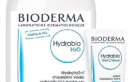 BIODERMA Hydrabio dárkové balení Gel-Créme 40ml +Hydrab.H2O 500 ml