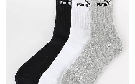 Ponožky Puma Sport Sock 3 Pack Outlets Barevná