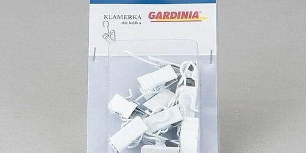 Gardinia Háčky se žabičkou kovové, 10 ks, bílé2