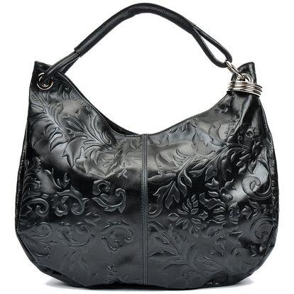Černá kožená kabelka Renata Corsi Violetta