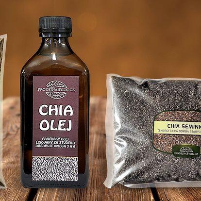 Chia mouka, olej i semínka pro zdraví celé rodiny