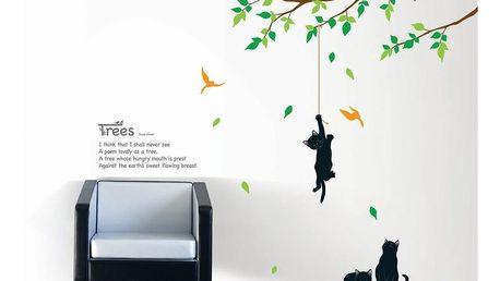 Sada samolepek Ambiance Tree And Cat
