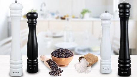 Velké dřevěné mlýnky na sůl nebo pepř Klausberg