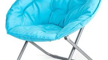 HAPPY GREEN Křesílko skládací ANZIO 80 x 84 x 40 / 78 cm, světlé modré