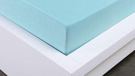 XPOSE ® Jersey prostěradlo Exclusive dvoulůžko - světle modrá 160x200 cm