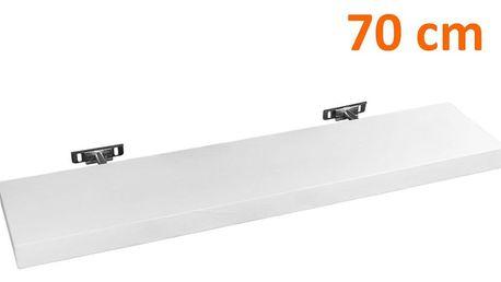 STILISTA SALIENTO 30873 Nástěnná police - 70 cm bílá