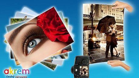 10 velkoformátových fotografií ve formátech A3 či A4