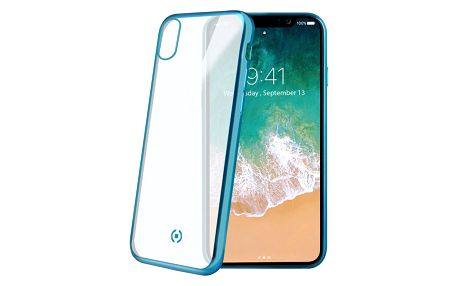 Celly Laser TPU pouzdro pro iPhone X, modrá
