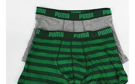 Boxerky Puma STRIPE 1515 BOXER 2 Pack green Barevná