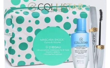 Collistar Shock dárková kazeta pro ženy řasenka 8 ml + odličovač Gentle Two Phase 50 ml + kosmetická taška