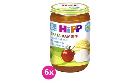 6x HIPP BIO rajčata se špagetami a mozzarelou (220 g) - zeleninový příkrm