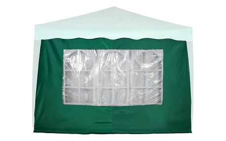 Tuin 6368 Boční stěna s trojdílným oknem - 3x3m - zelený