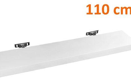 STILISTA SALIENTO 30875 Nástěnná police - bílá 110 cm
