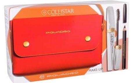 Collistar Shock dárková kazeta pro ženy řasenka 8 ml + tužka na oči 2 g Black + kabelka