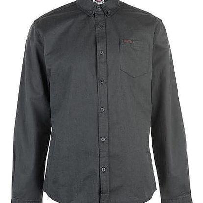 Pánská bavlněná košile Lee Cooper tmavě šedá