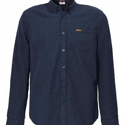 Pánská bavlněná košile Lee Cooper tmavě modrá vzor