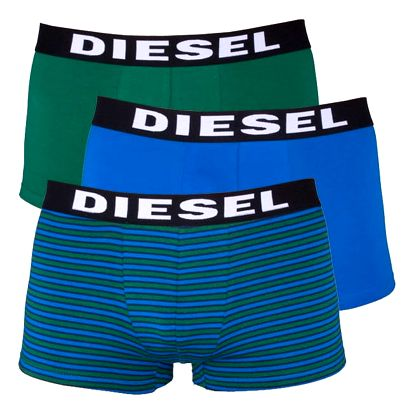 3Pack Diesel Boxerky Shawn Boxers Blue Green Stripes