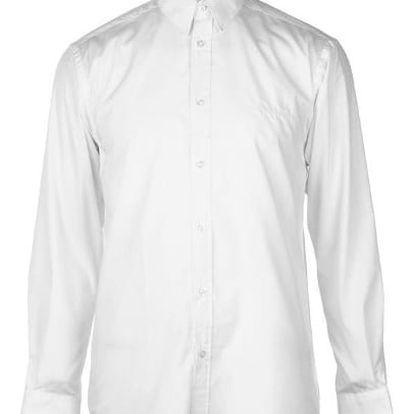 Značková pánská košile Pierre Cardin Long bílá lesklá