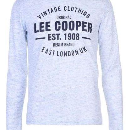 Značkové pánské triko s dlouhým rukávem LEE COOPER Sleeve bílé