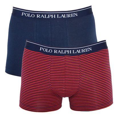 2PACK pánské boxerky Ralph Lauren modro červené pruhy