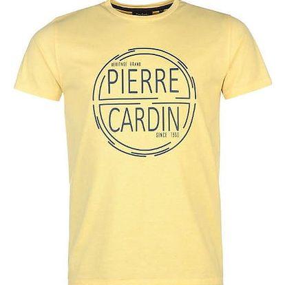 Značkové pánské triko Pierre Cardin žluté