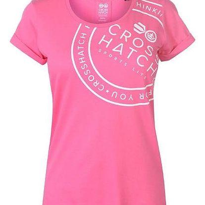 Značkové dámské triko Crosshatch růžové