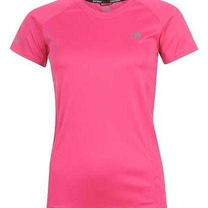 Značkové dámské běžecké triko Karrimor růžové