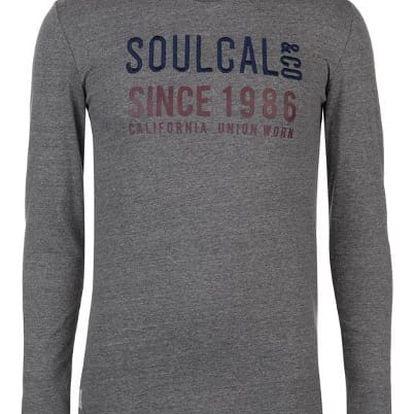 Pánské triko s dlouhým rukávem SoulCal šedé