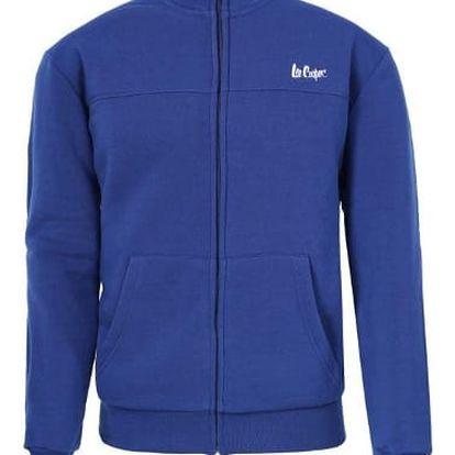 Značková pánská mikina LEE COOPER Zip modrá