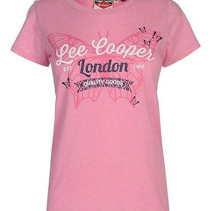 Značkové dámské triko Lee Cooper Fashion růžové