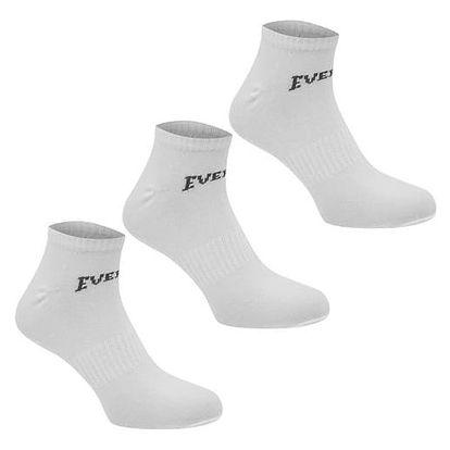 Pánské ponožky nízké EVERLAST 3 ks bílé