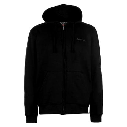 Značková pánská mikina na zip Pierre Cardin černá