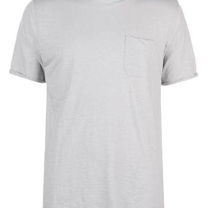 Značkové tričko Pierre Cardin RAW světle šedé