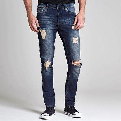Značkové pánské džíny Firetrap roztrhané